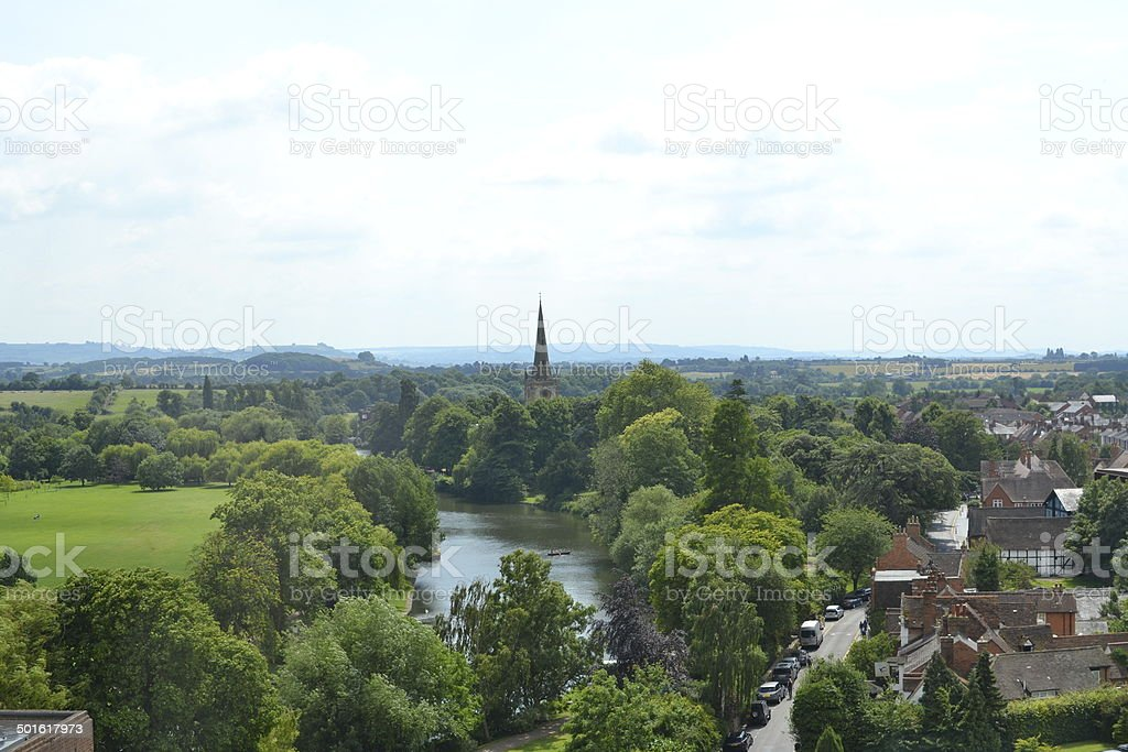 River Avon and Holy Trinity Church, Stratford Upon Avon royalty-free stock photo