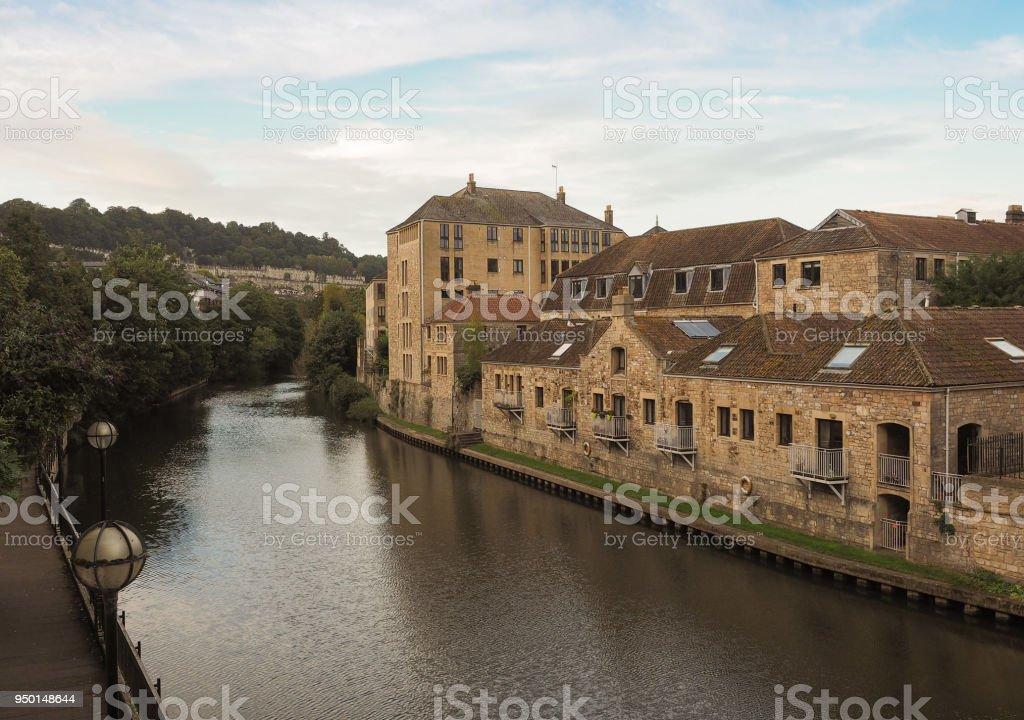 River Avon in Bath stock photo