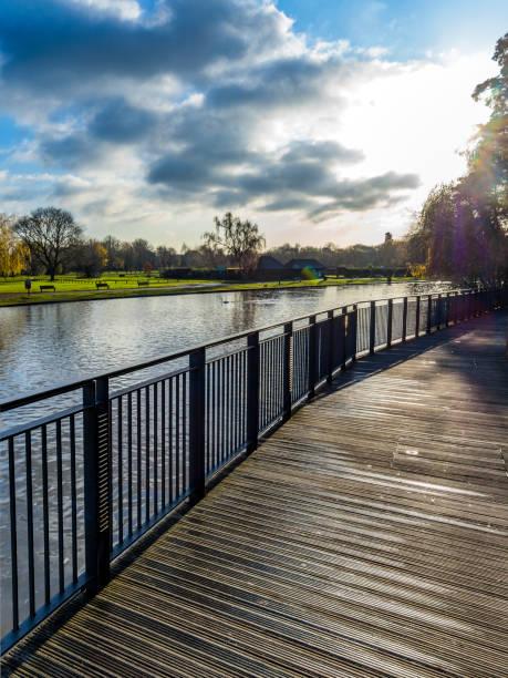 River Avon Stratford upon avon Warwickshire England UK stock photo