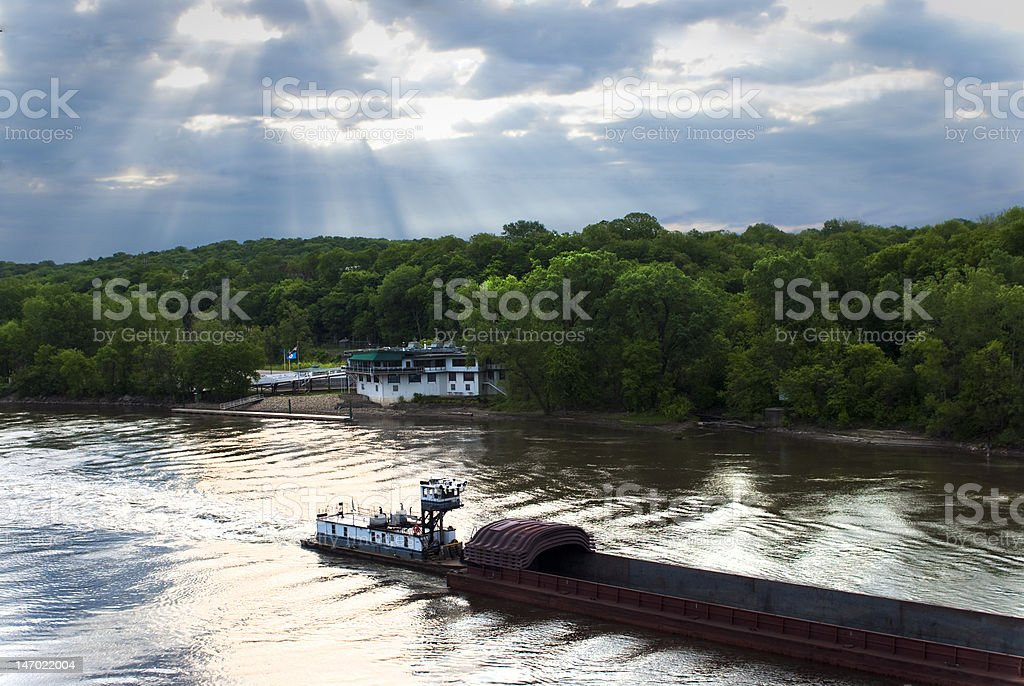 River Barge royalty-free stock photo
