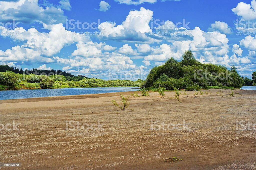 river beach royalty-free stock photo