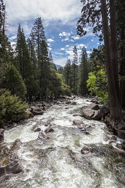 River below Yosemite Falls stock photo