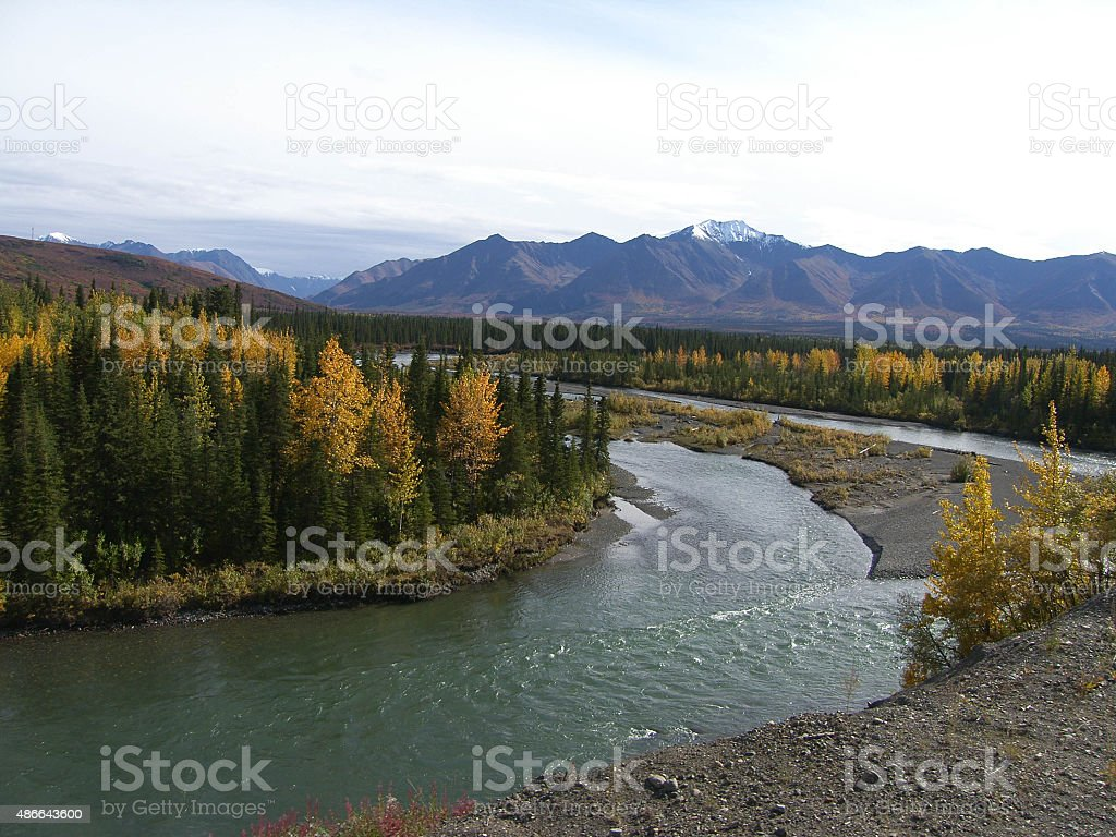 River bend stock photo