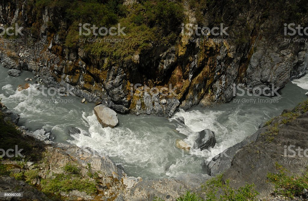 River Bend royalty-free stock photo