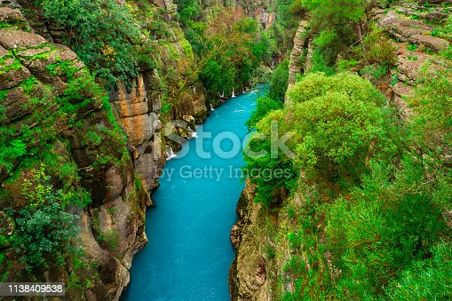 River, Canyon, Valley, Blue, Antalya City, Vacations, Adventure, Tourism, Rafting, Scenics - Nature, Amazing, Forest, Plant, Tree, Travel Destinations, Bay of Water, Turkey - Middle East, Nature, Summer, Looking At View, Koprulu Canyon, Koprucay