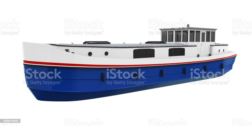 River Boat Isolated – Foto