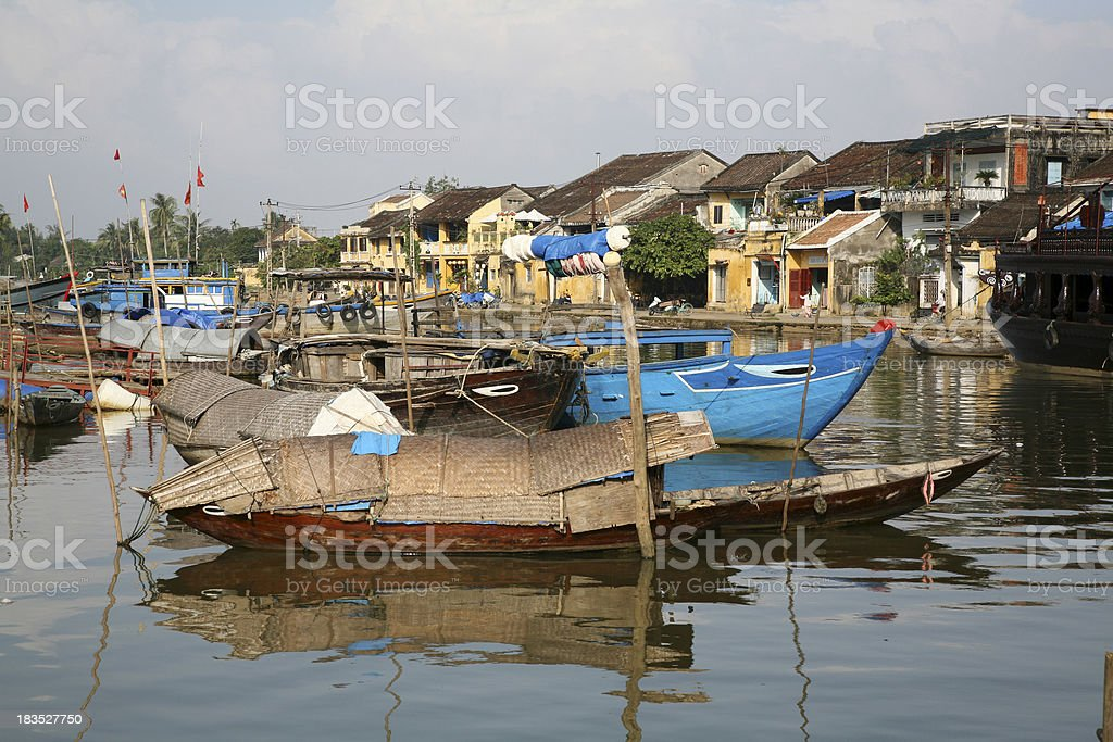 River boats, Hoi An royalty-free stock photo