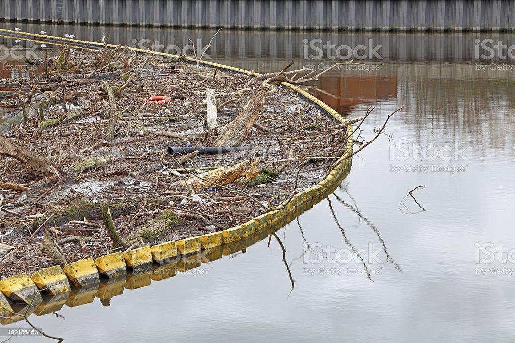 River Boom stock photo