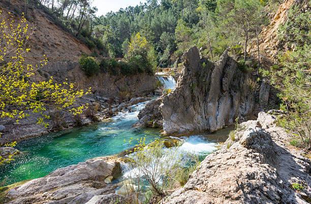 River Borosa Walking Trail in the Sierra Cazorla Mountain Range stock photo