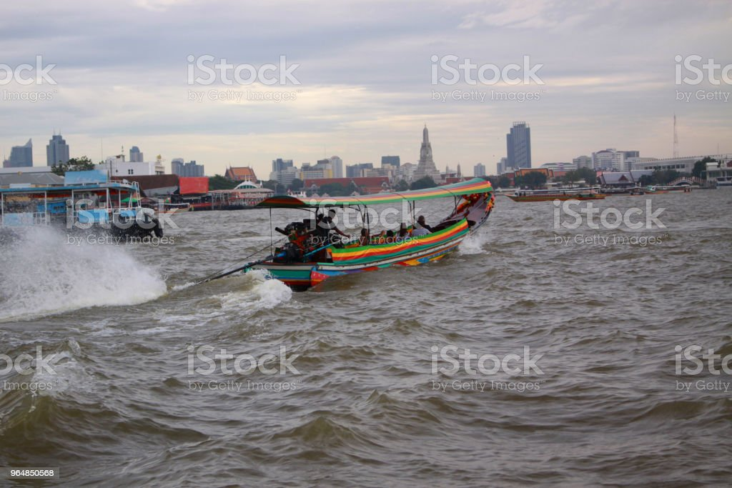 River Chao Pharaya in Bangkok royalty-free stock photo