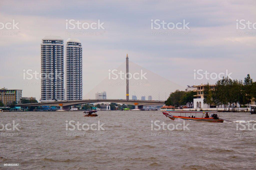 River Chao Pharaya in Bangkok royalty-free stock photo