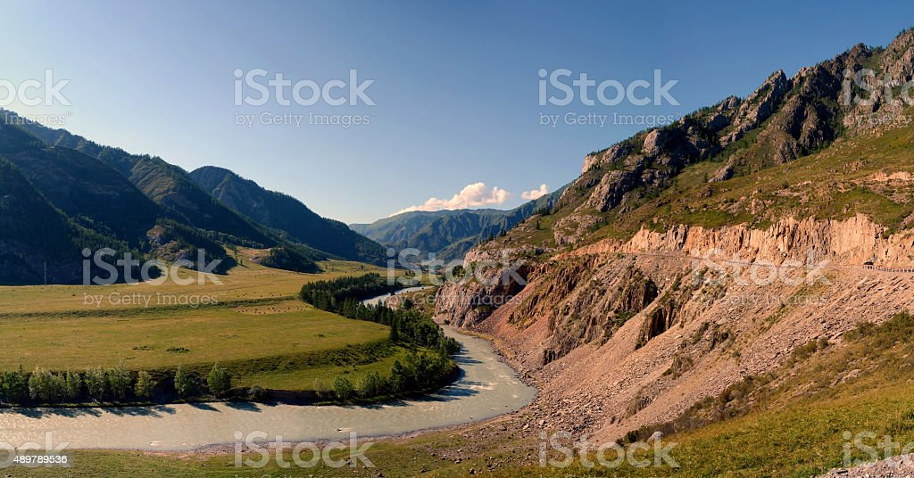 River Chuya, Altai, Siberia, Russia stock photo