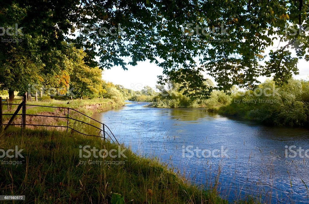 River Clyde, Baron's Haugh in Motherwell stock photo