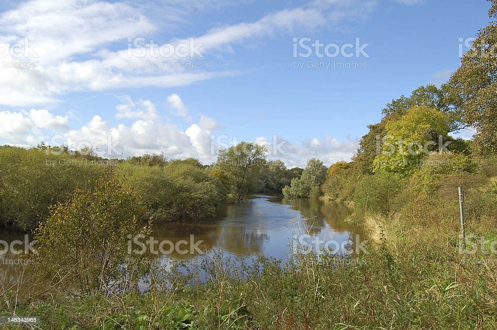 River Clyde, Baron's Haugh, Motherwell stock photo