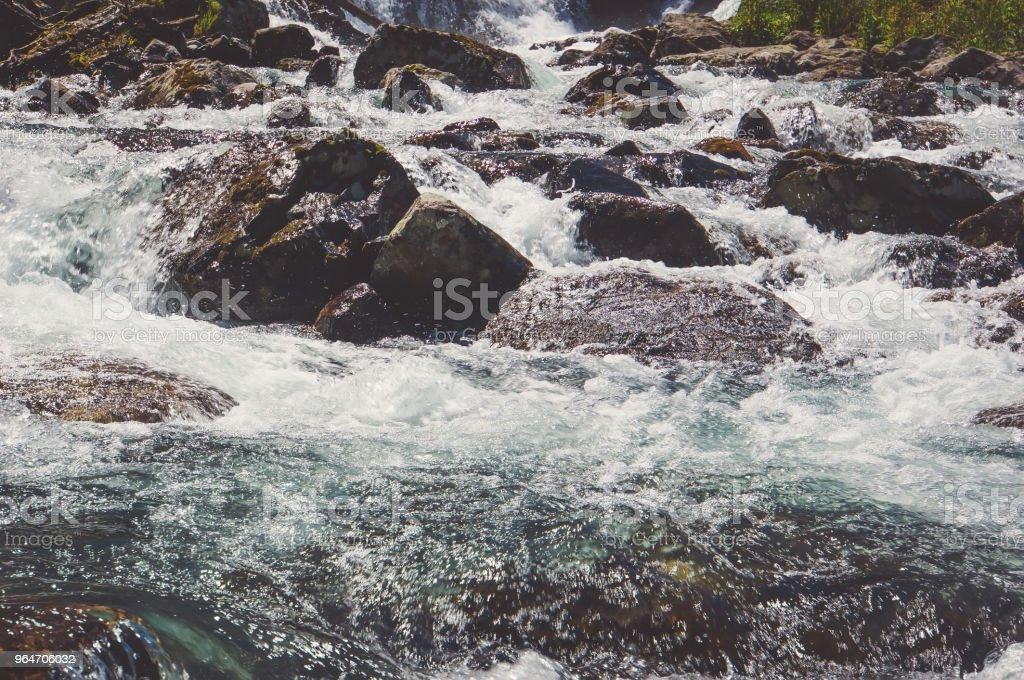 River coast with stones royalty-free stock photo