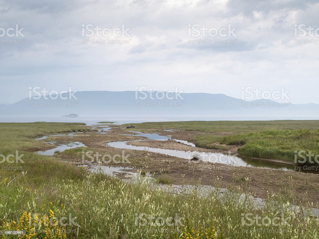River confluence, Quebec, Canada royalty-free stock photo