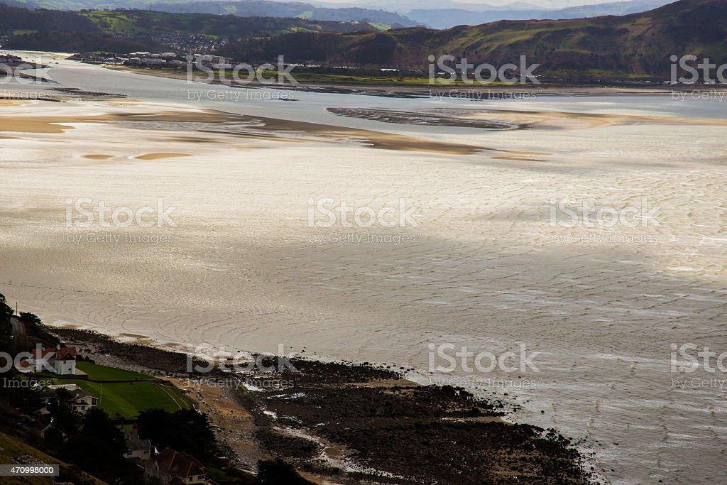 River Conwy estuary. stock photo