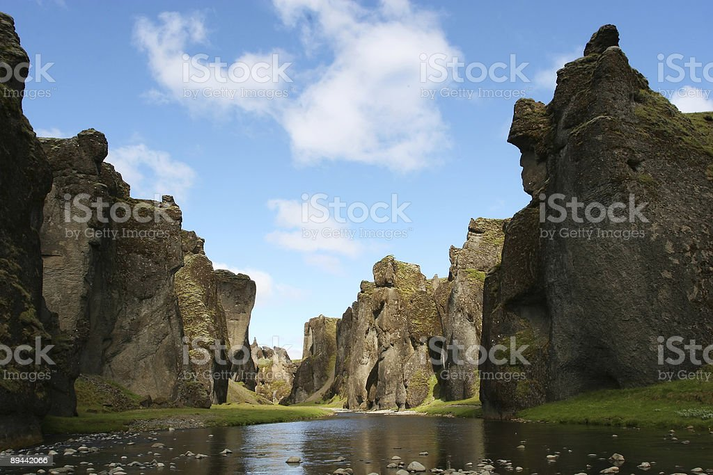 river crevasse royalty-free stock photo