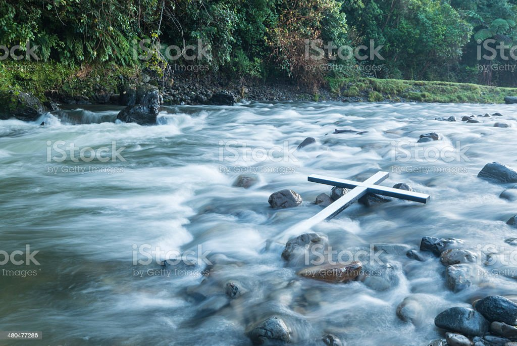 River Cross stock photo