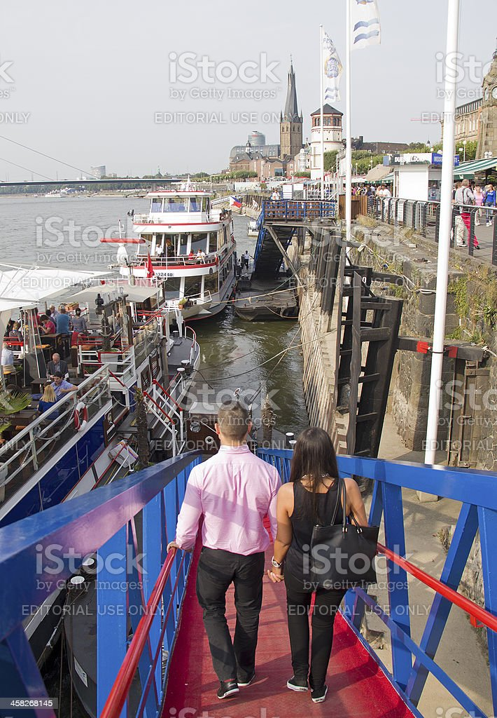River Cruise in Dusseldorf royalty-free stock photo