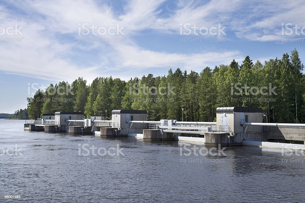 River dam royalty-free stock photo