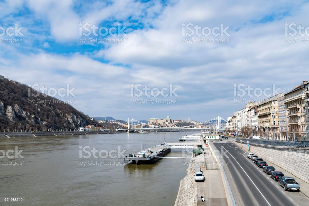 River Danube in Budapest, Hungary stock photo