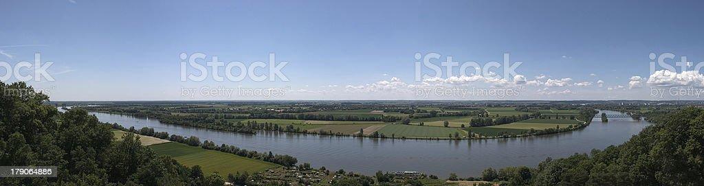 River Danube near Regensburg royalty-free stock photo