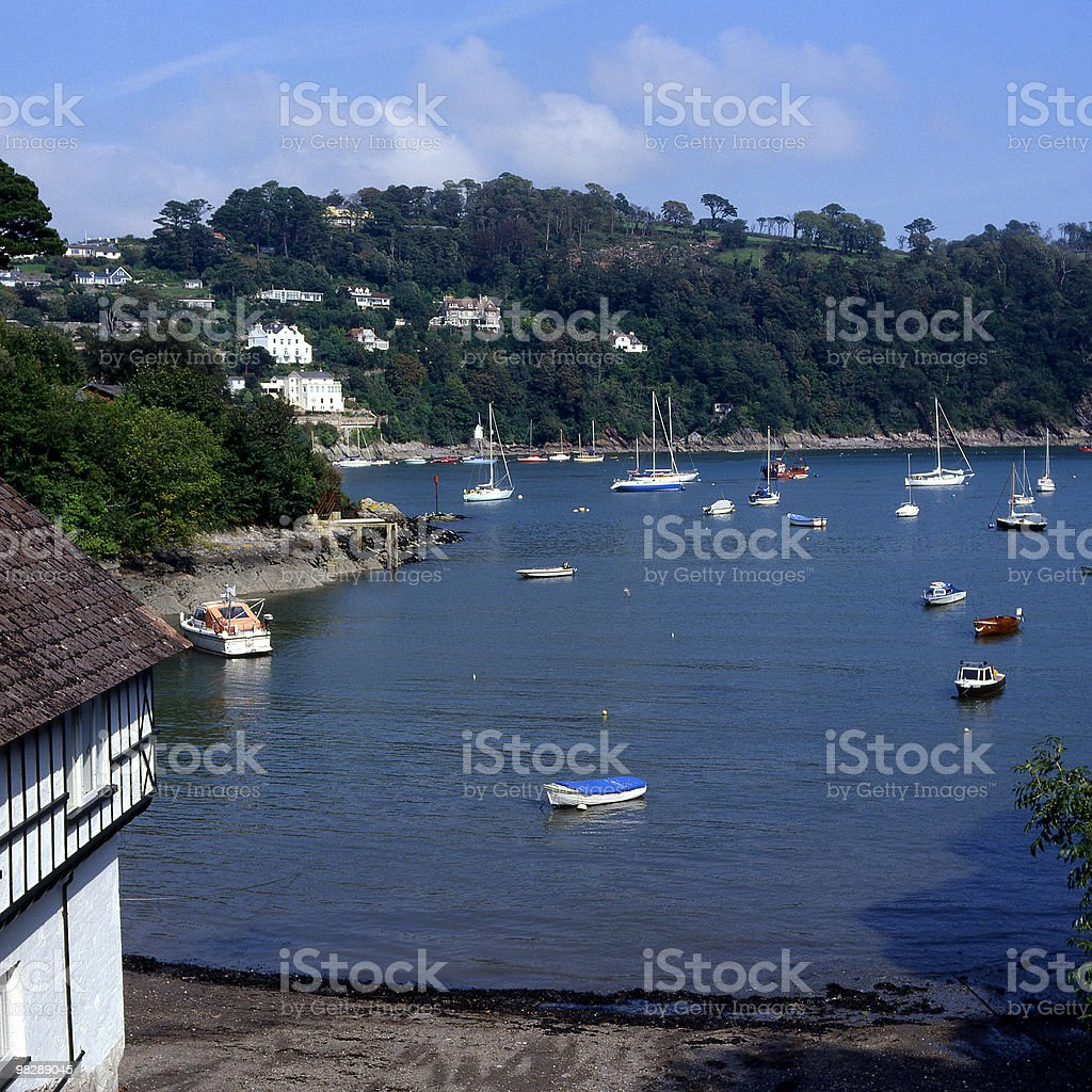 River Dart at Dartmouth in Devon, England royalty-free stock photo