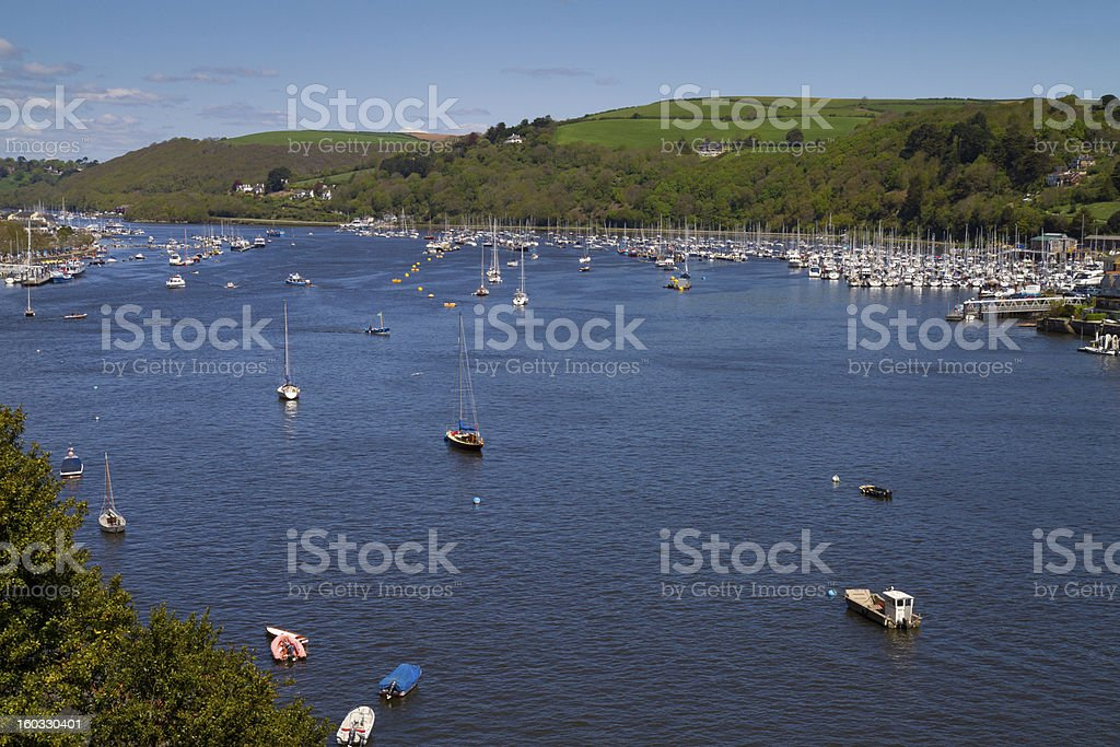 River Dart between Dartmouth and Kingswear Devon royalty-free stock photo