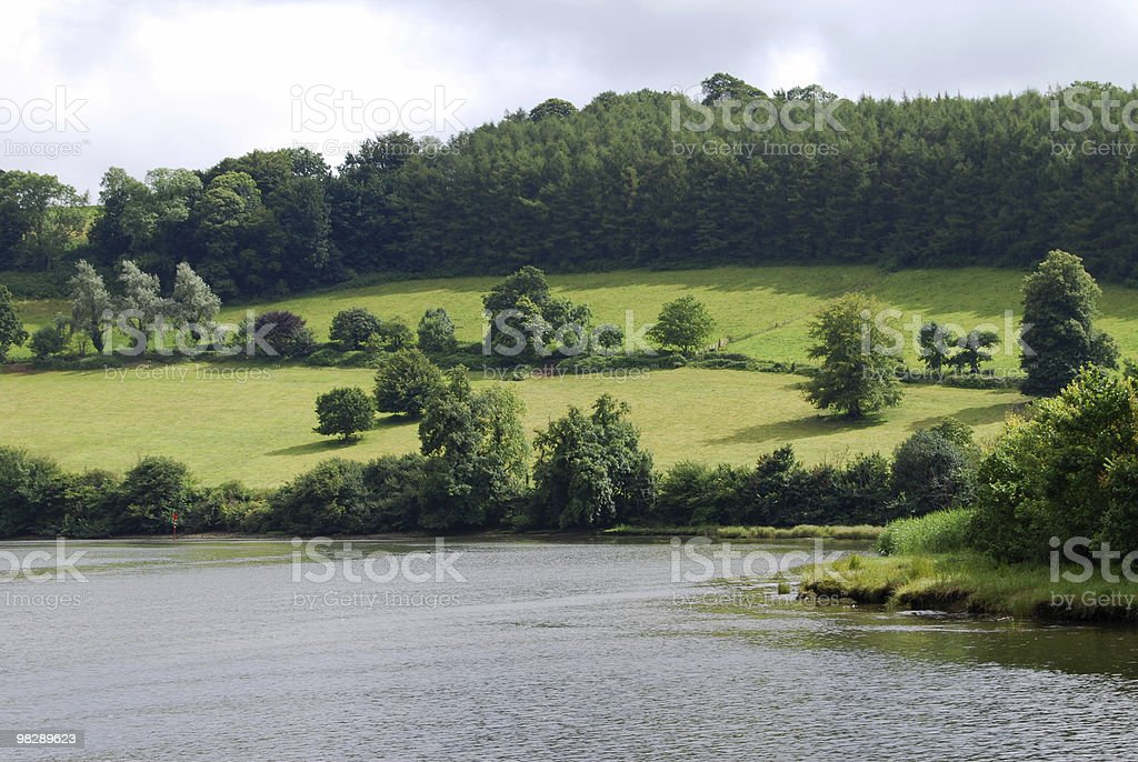 River Dart Valley near Totnes. Devon. England royalty-free stock photo