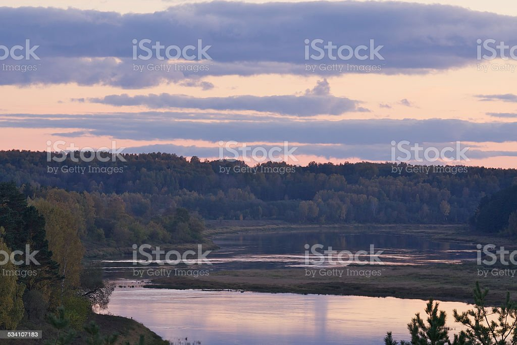 River Daugava stock photo