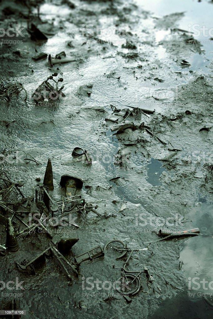 River Debris stock photo