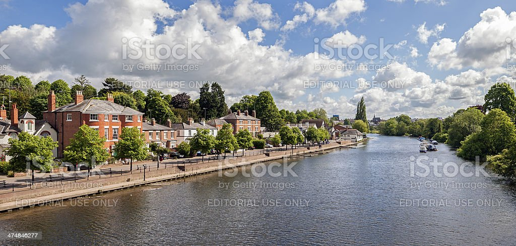 River Dee, Chester stock photo