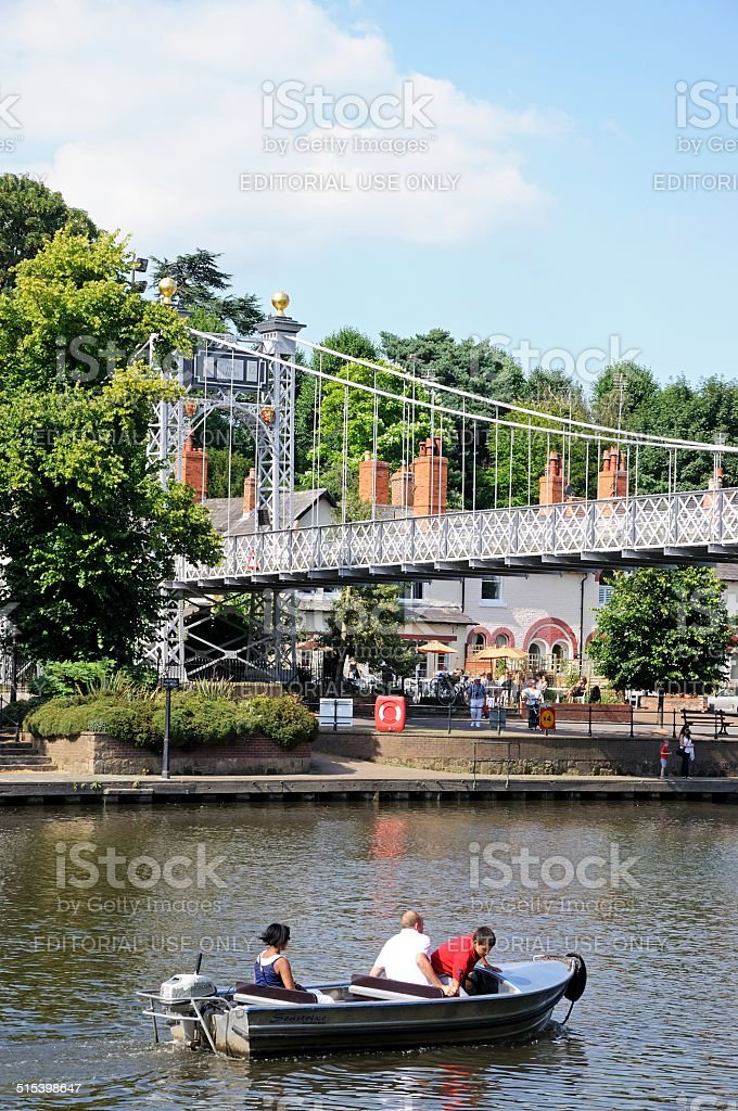 River Dee, Chester. stock photo