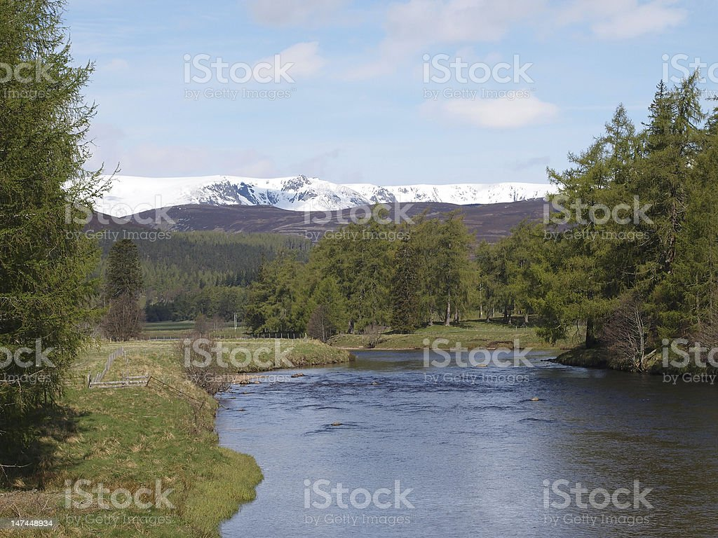 River Dee , east of Braemar, Scotland. royalty-free stock photo
