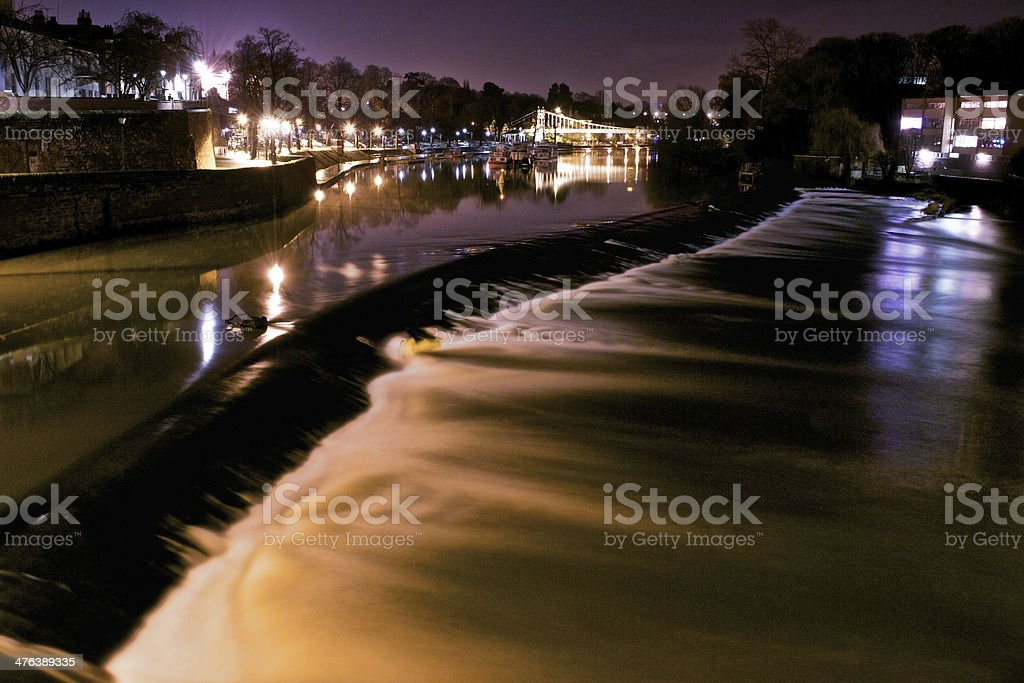 River Dee in Chester Long Exposure royalty-free stock photo