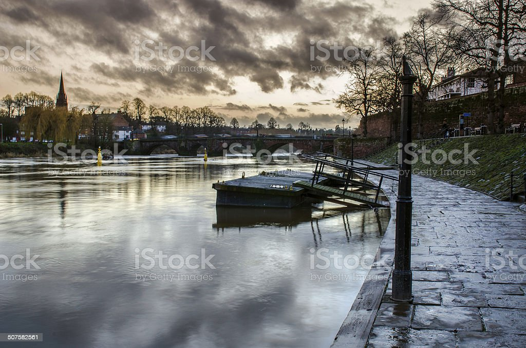 River Dee in Chester stock photo