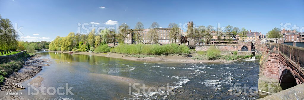 River Dee in old Roman City of Chester royalty-free stock photo