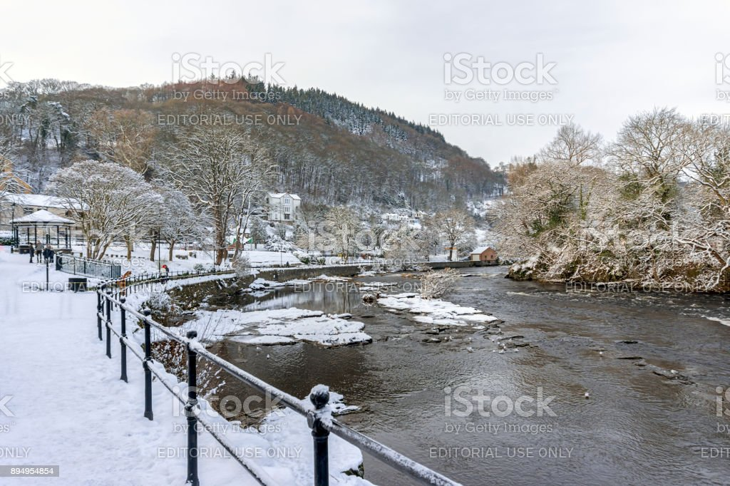 River Dee Llangollen, North Wales stock photo