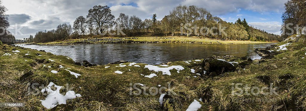River Dee panorama, scotland royalty-free stock photo