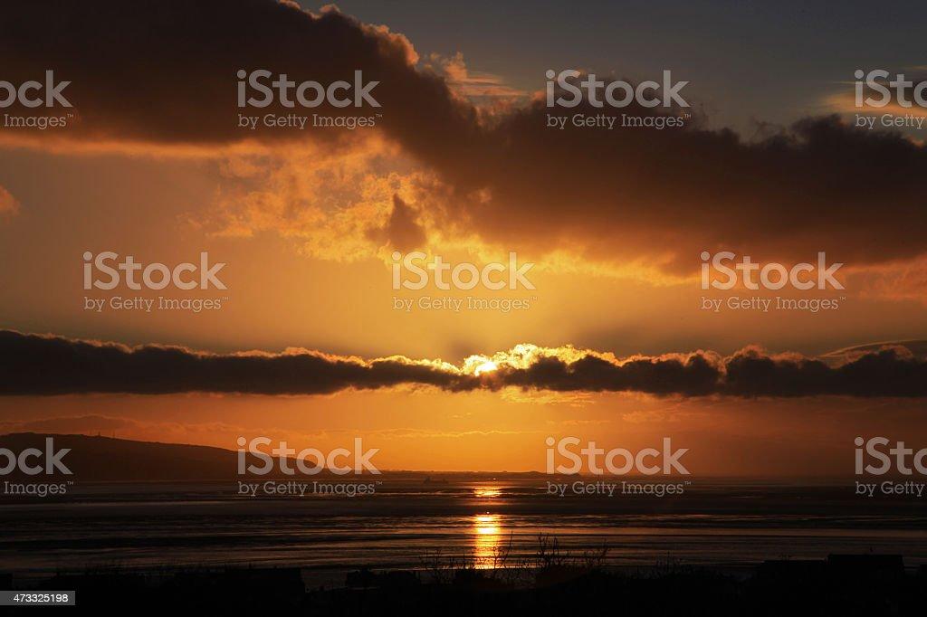River Dee Sunset stock photo