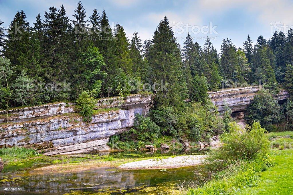 River Doubs stock photo