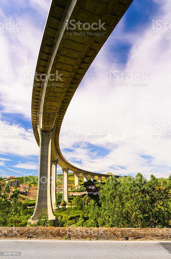 river Douro valley, Portugal stock photo