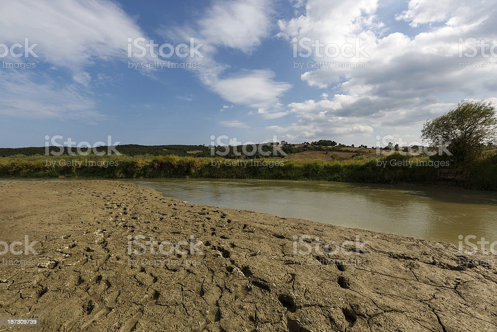 River drought royalty-free stock photo