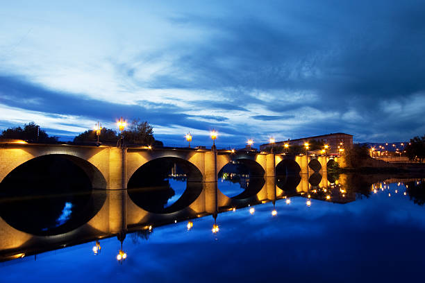 River Ebro bridge stock photo