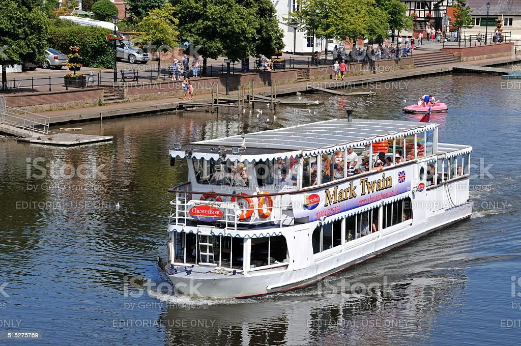 River Ferry, Chester. stock photo
