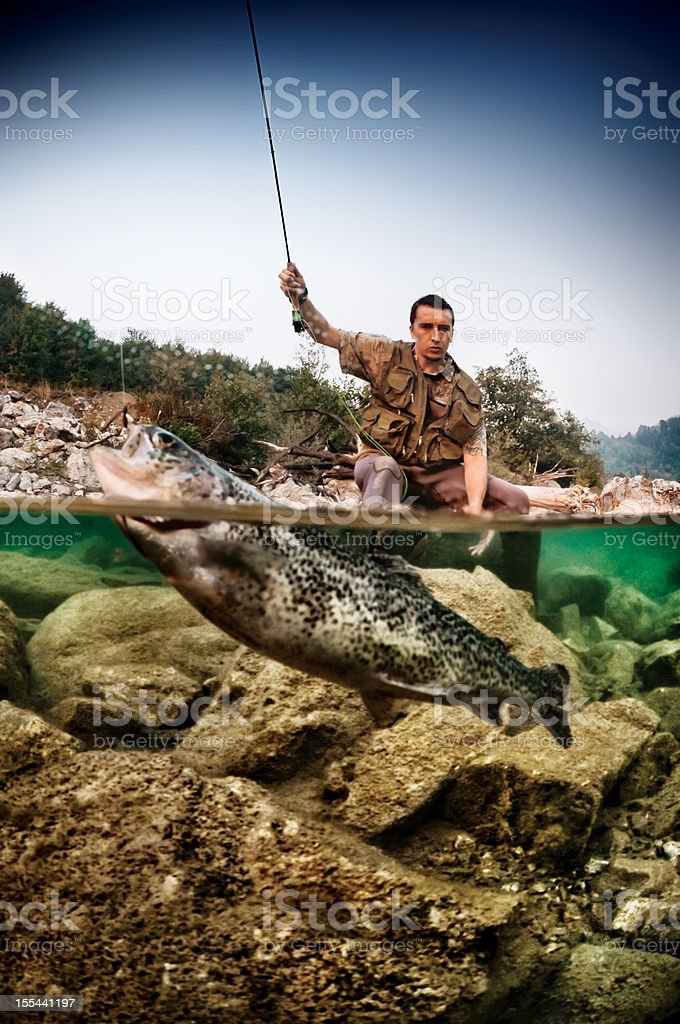 River Fishing royalty-free stock photo