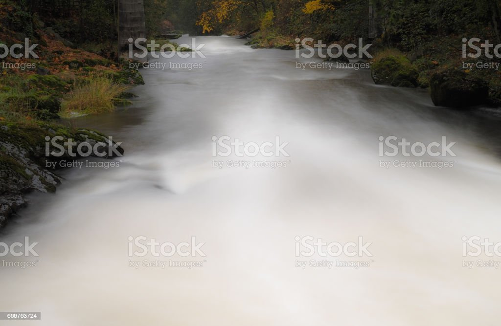 River Flow Long Exposure foto stock royalty-free