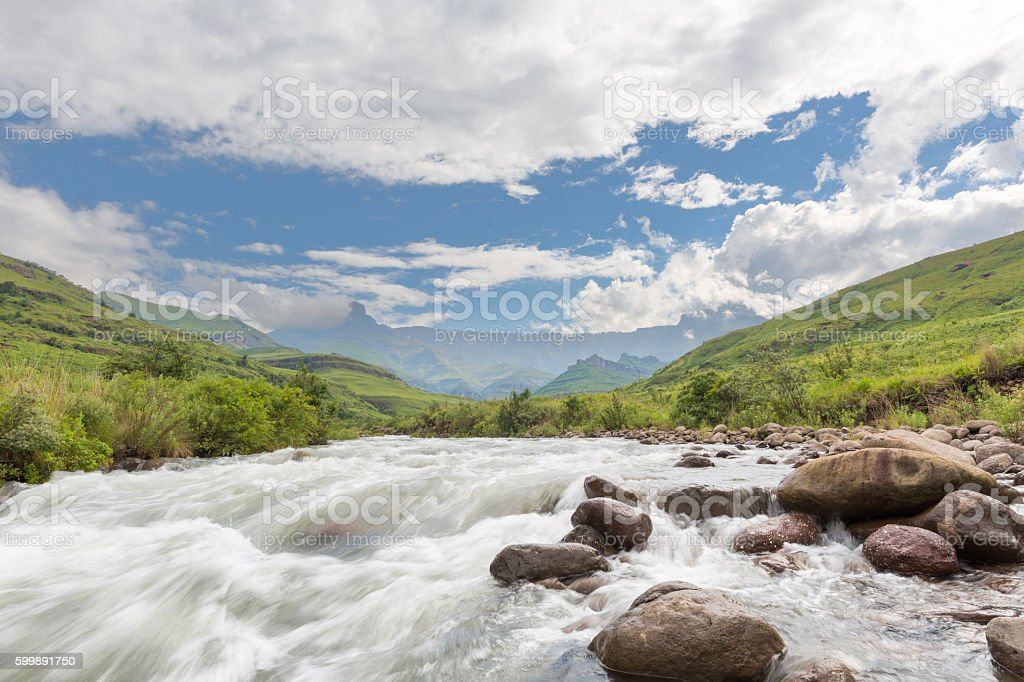 River flowing stock photo