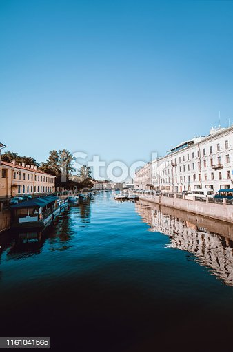 River Fontanka In The Center Of St. Petersburg, Russia